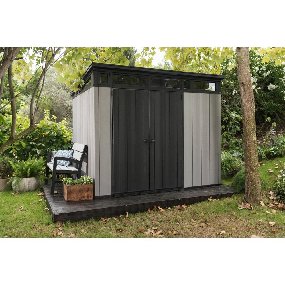 Keter Artisan 9 Ft X 7 Ft Resin Storage Shed 237828 The Home Depot In 2020 Plastic Storage Sheds Outdoor Garden Storage Storage Shed