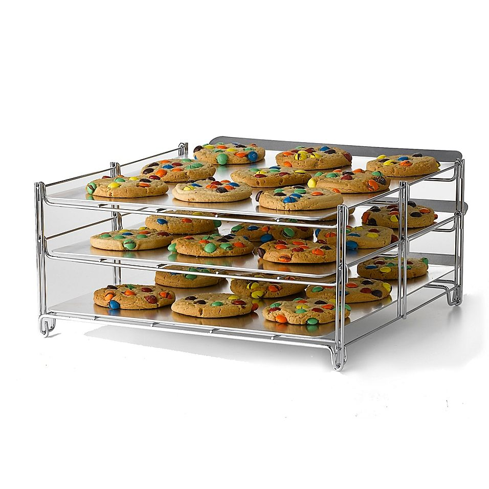 Betty Crocker 3 Tier Baking And Cooling Rack In Chrome Tiered