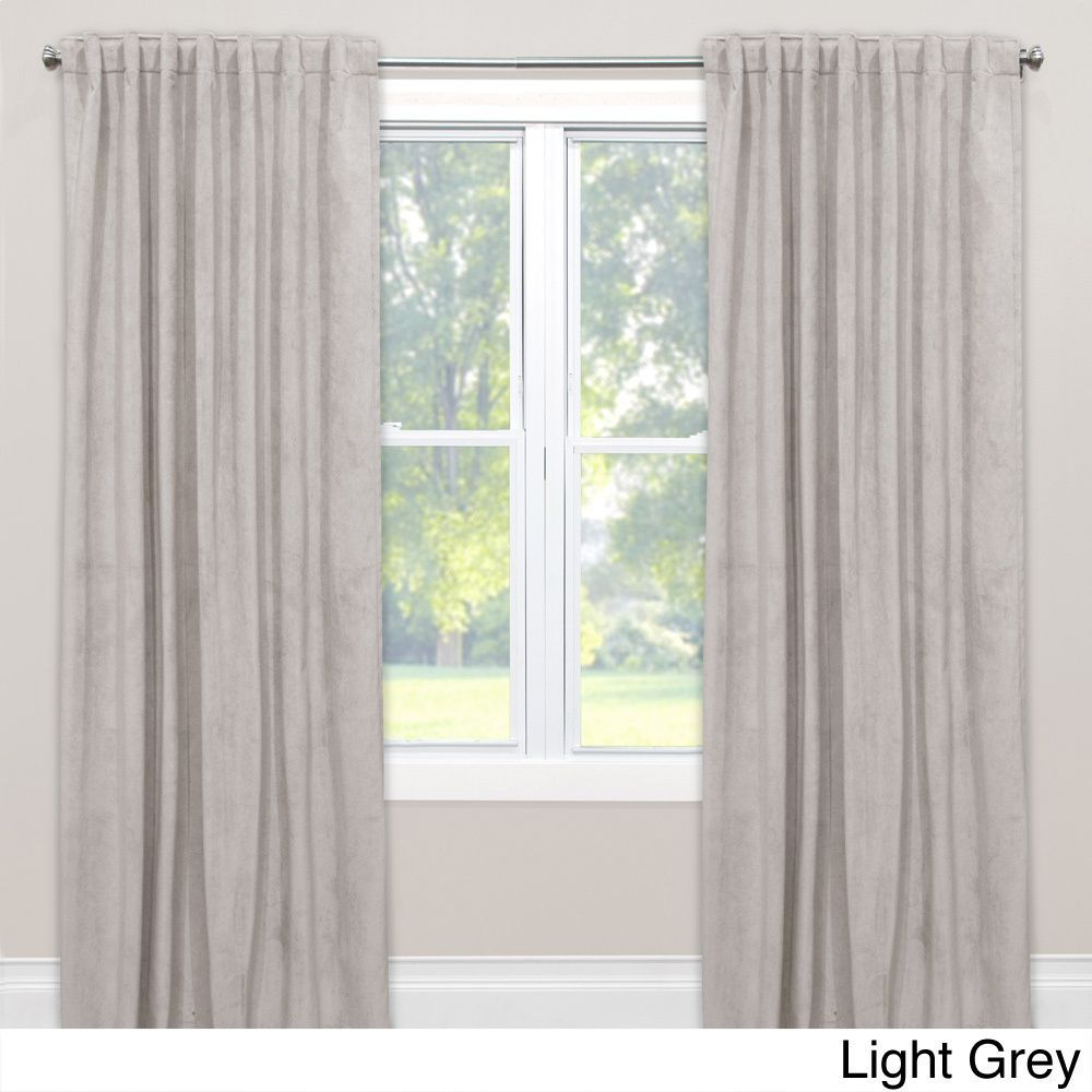 Light grey window curtains - Skyline Velvet Blackout Window Curtain Panel Velvet Light Grey 108 Size 50