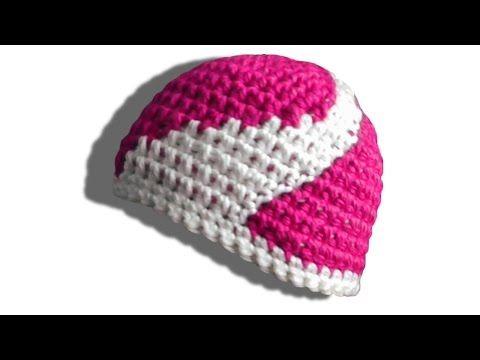 Wirbel Mütze Häkelanleitung - © Woolpedia - YouTube | häkeln ...