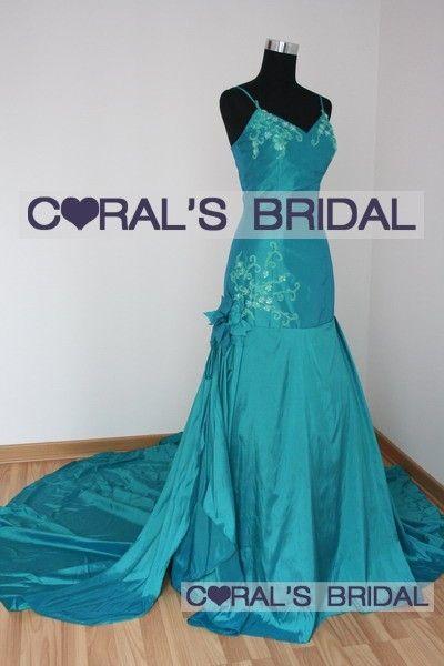 Cyan Wedding Colors Real Wedding Dresses Jsw45 F Teal