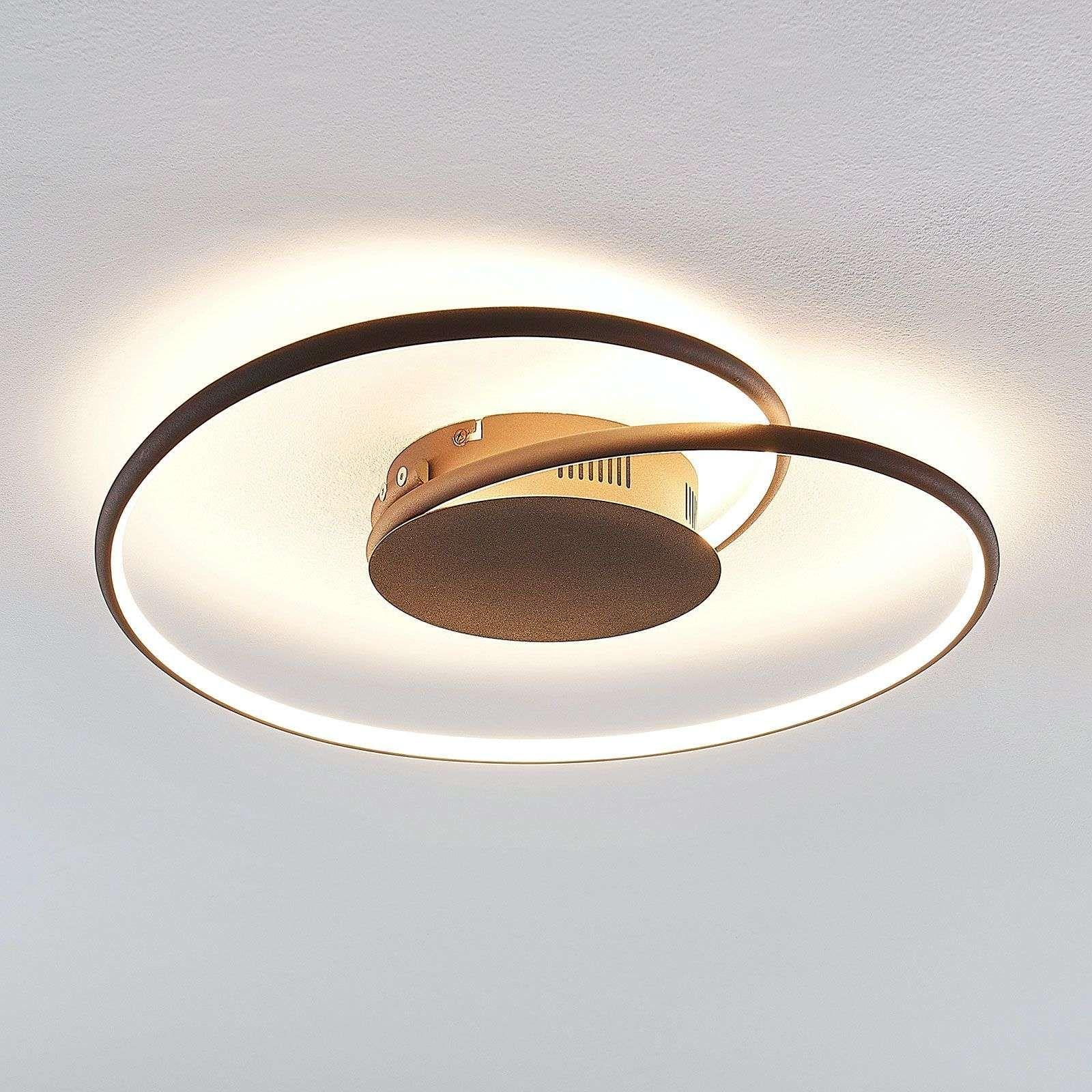 Lindby Joline LED plafondlamp, roest 45 cm