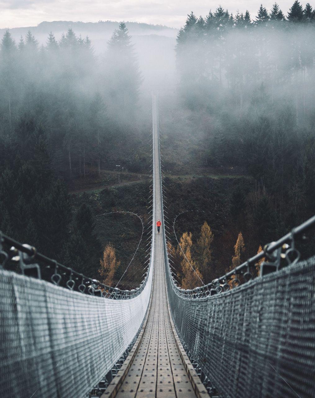 """bokehm20n """"Geierlay  Germanys longest suspension bridge ..."""