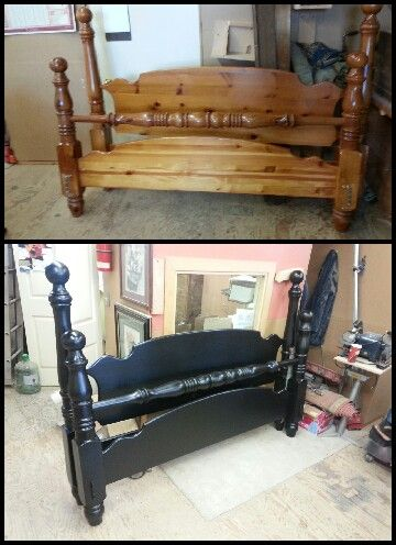 Pine Bed Painted Black Beds