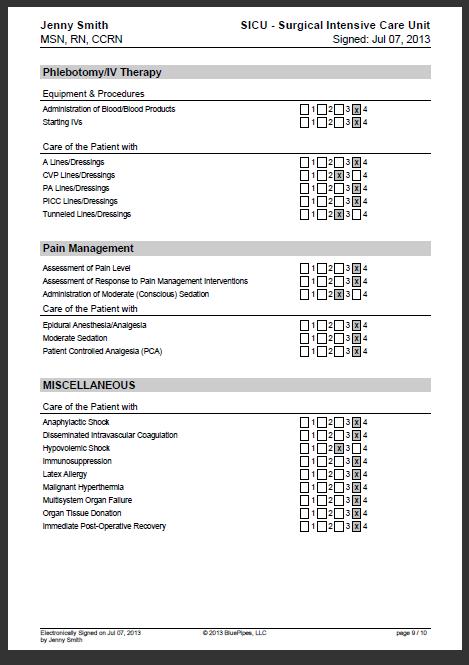 Sample Nursing Skills Checklist Bluepipes Blog Nursing Resume Nurse Nursing Agencies