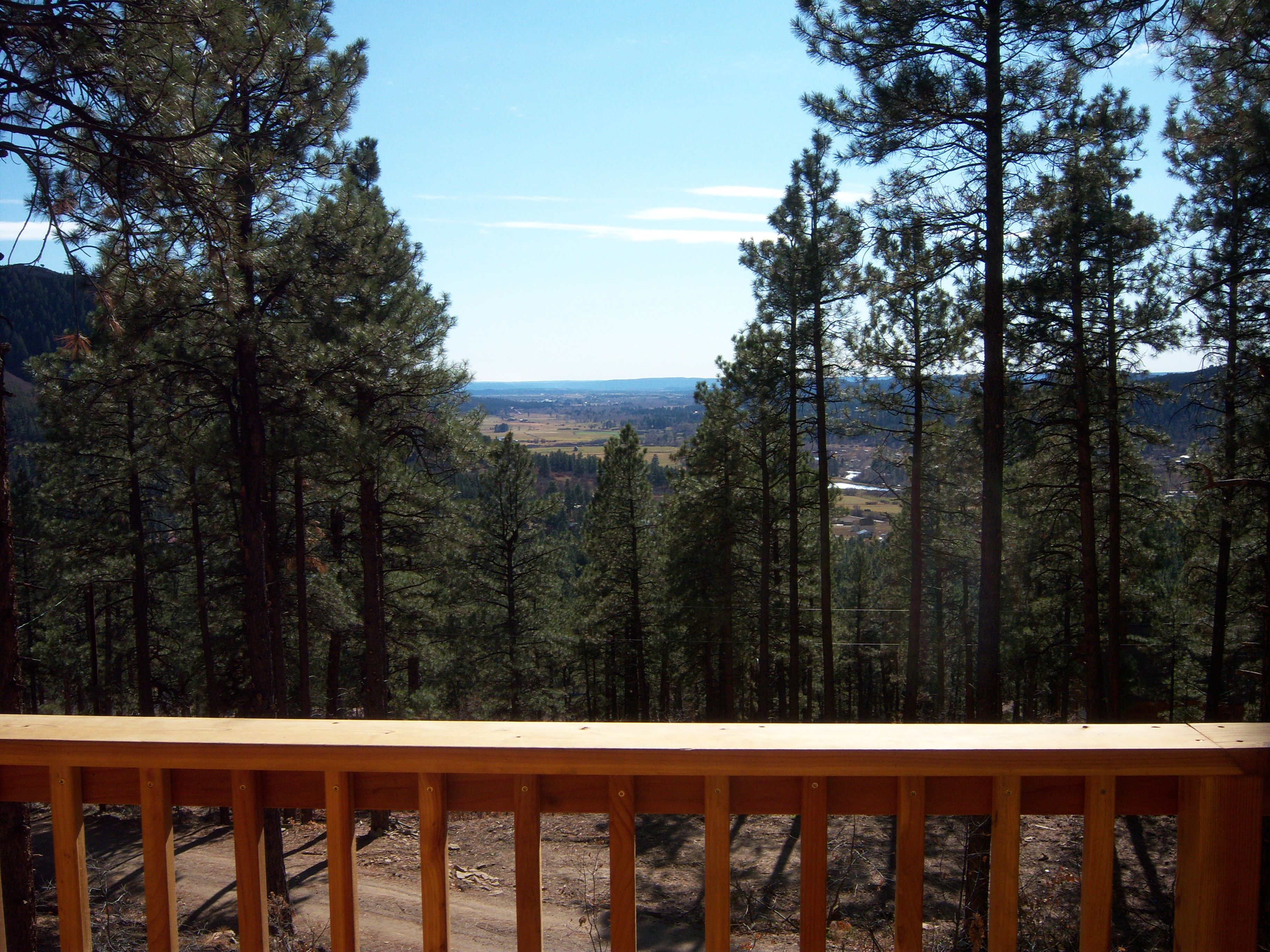 This is the view from our deck in Bayfield, Colorado