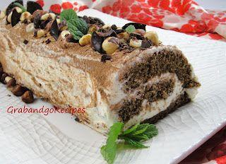 Try this - Chocolate Tiramisu Roulade -