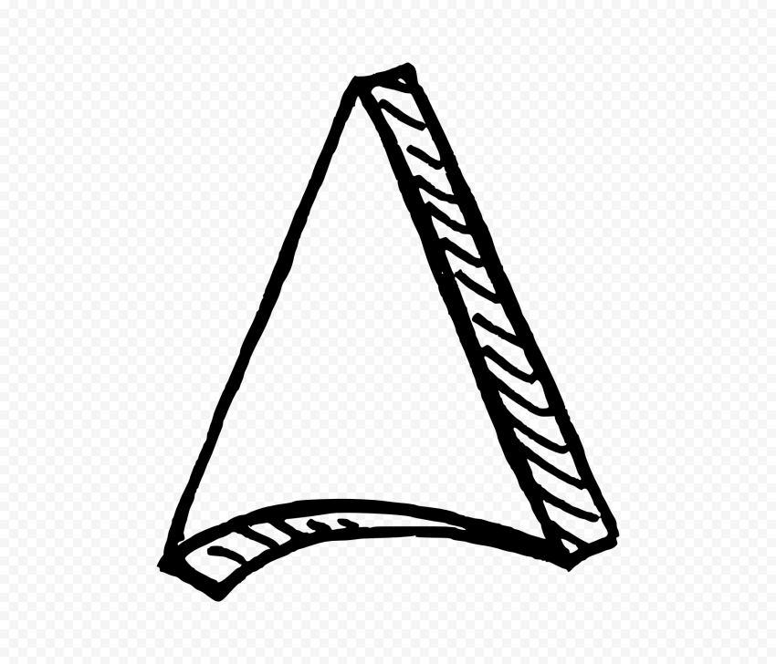 Black Outline Drawing Arrowhead 3d Effect To Up Outline Drawings Drawings Arrowhead