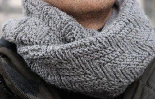 tricoter un snood homme tuto