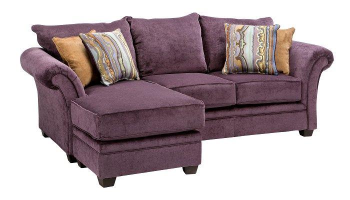 Living Room Sets Slumberland slumberland furniture - quimby collection - plum sofa chaise