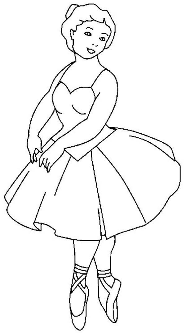 Ballerina Ballerina Balancing On The Tips Of Toes Coloring Page