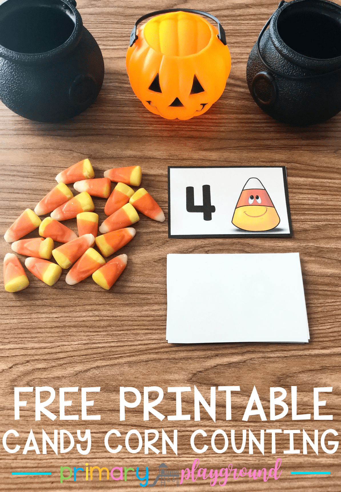 Free Printable Candy Corn Counting Cards