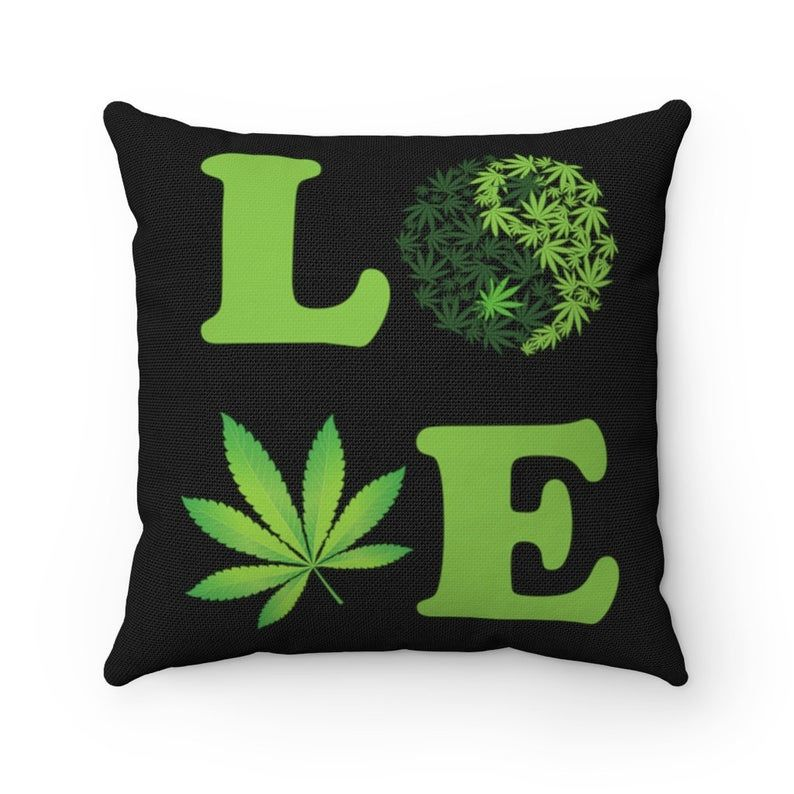 Love Weed Pillow Case, Cannabis Pillow case, Marijuana Pillowcase, hippie funny gift, Weed Yin Yang pillow cover, Funny gift Yoga lover USA