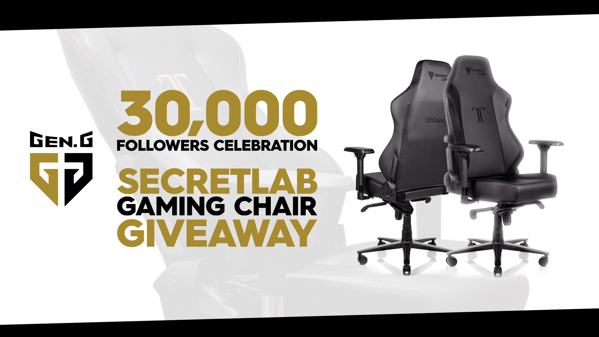 Gen.G Esports Secretlab Gaming Chair Giveaway Contests