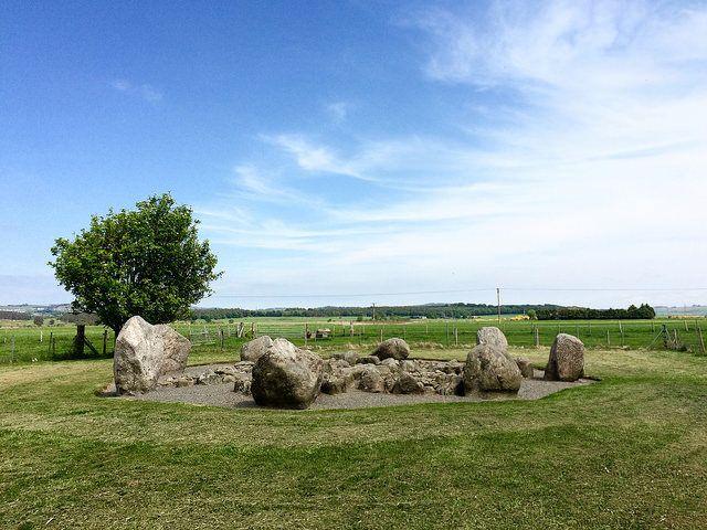 Cullerlie Stone Circle, Aberdeenshire, Scotland