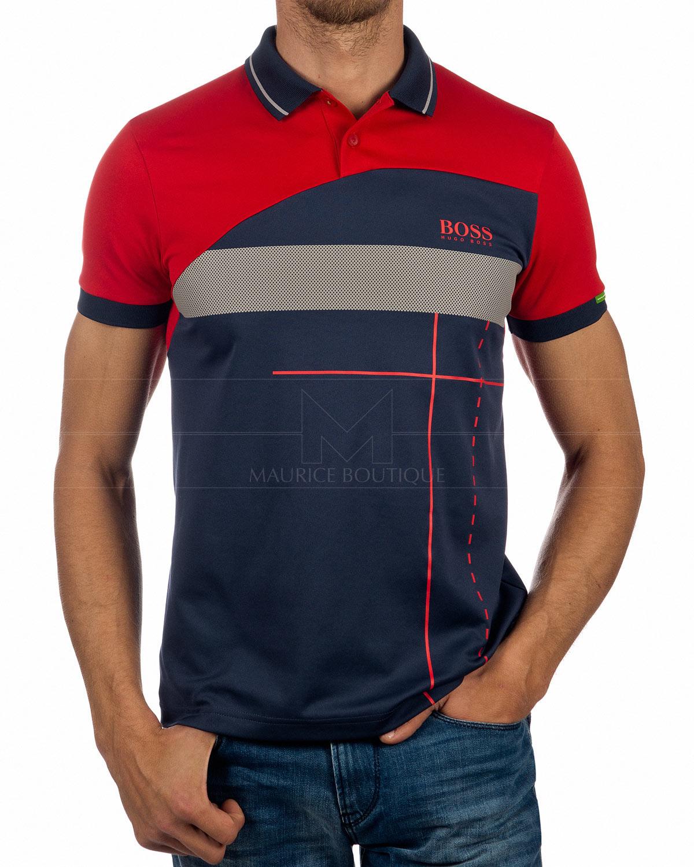 Hugo Boss Polo shirt Paddy MK2 Bright Red