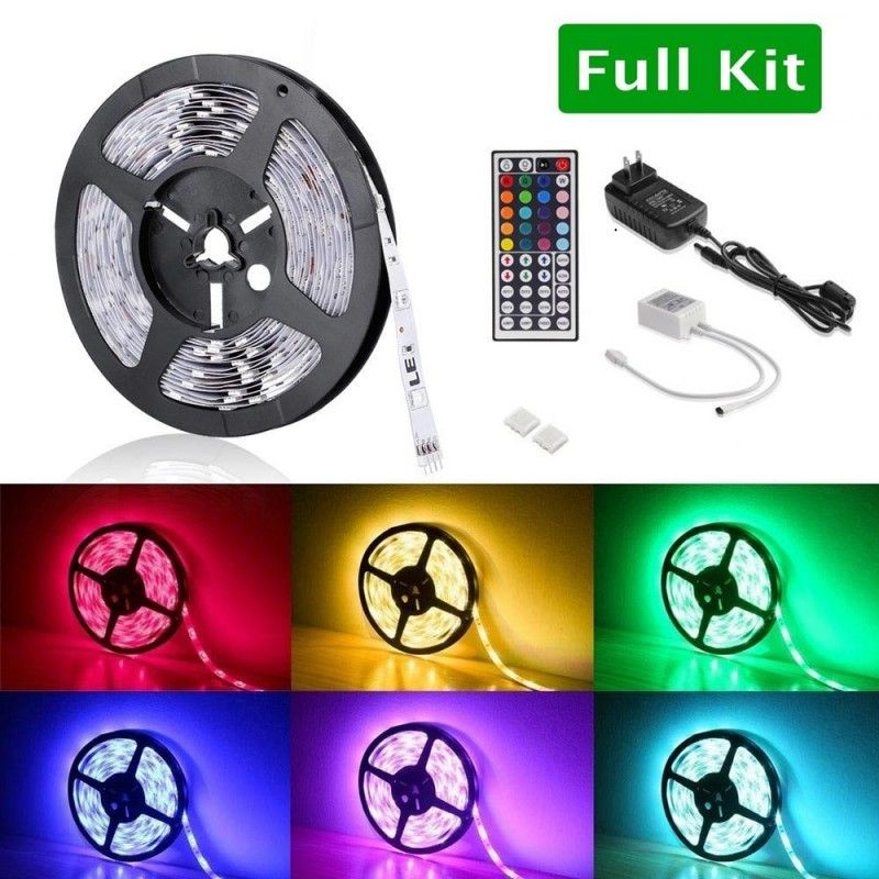 12v Rgb Led Strip Lights Kit Multi Colored Led Rope Light Kit Led Rope Lights Led Strip Lighting Rgb Led Strip Lights