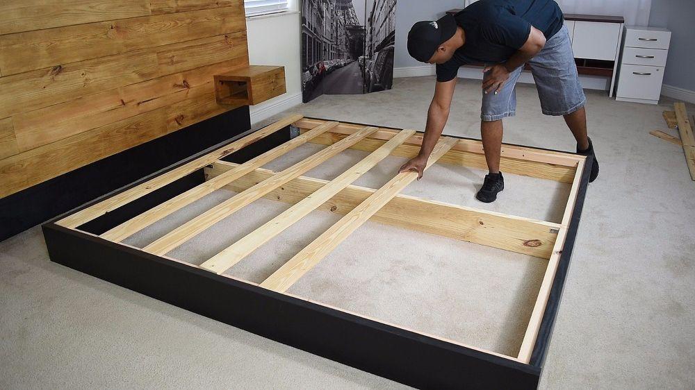 Diy Platform Bed With Floating Night Stands Diy Platform Bed