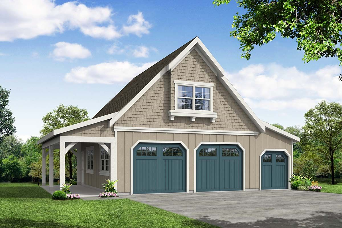Farmhouse Style 2 Car Garage Plan Number 41349 in 2020