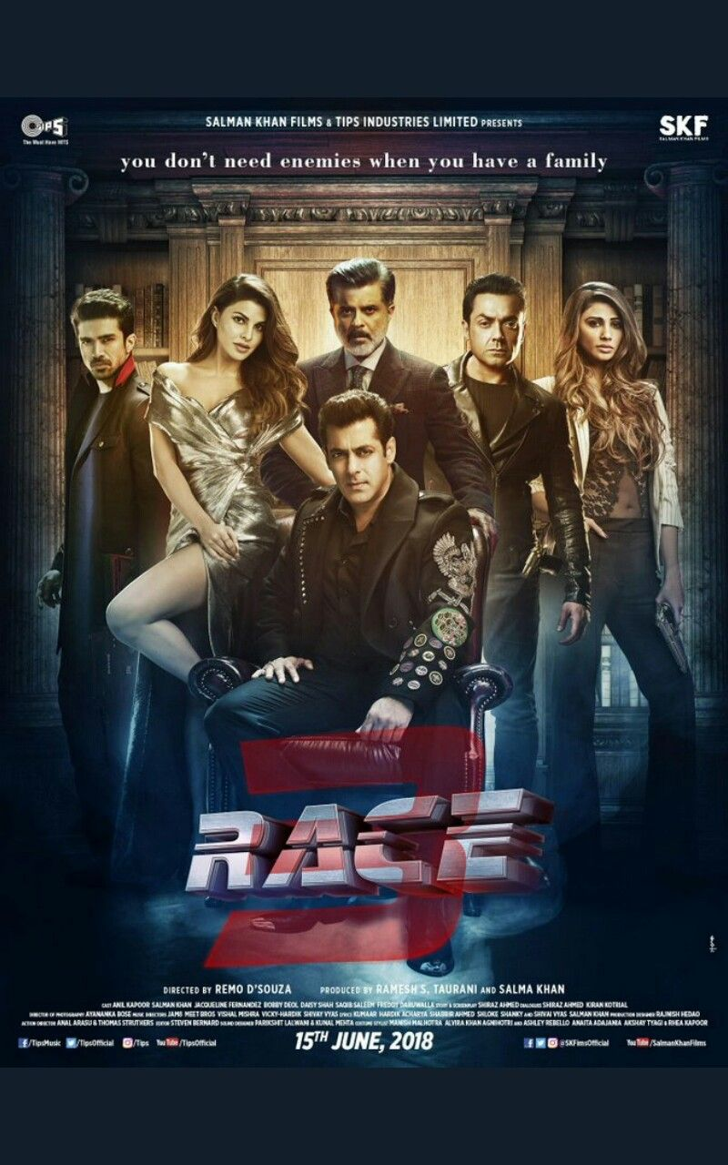 Race 3 Poster Bollywood In 2019 Full Movies Download Streaming