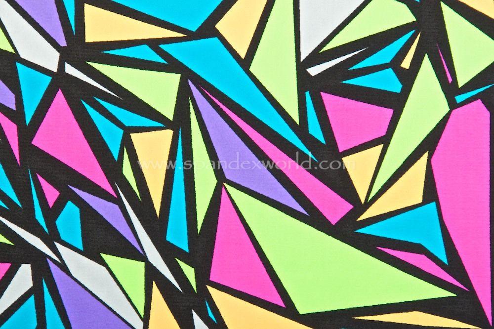 4c1e0f62c33f90 Abstract Print Spandex (Black Lime Green Blue Multi) Spandex World Product  ID  16423