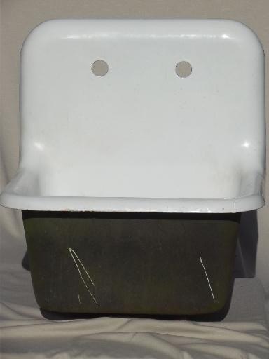 Bon Vintage Farmhouse Laundry Sink, Iron Industrial Apron Utility Sink