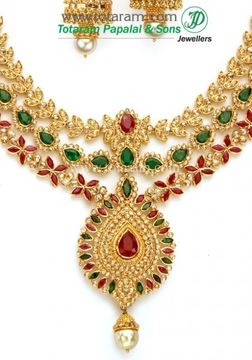 22K Gold Necklace jewllary Pinterest Gold necklaces Indian