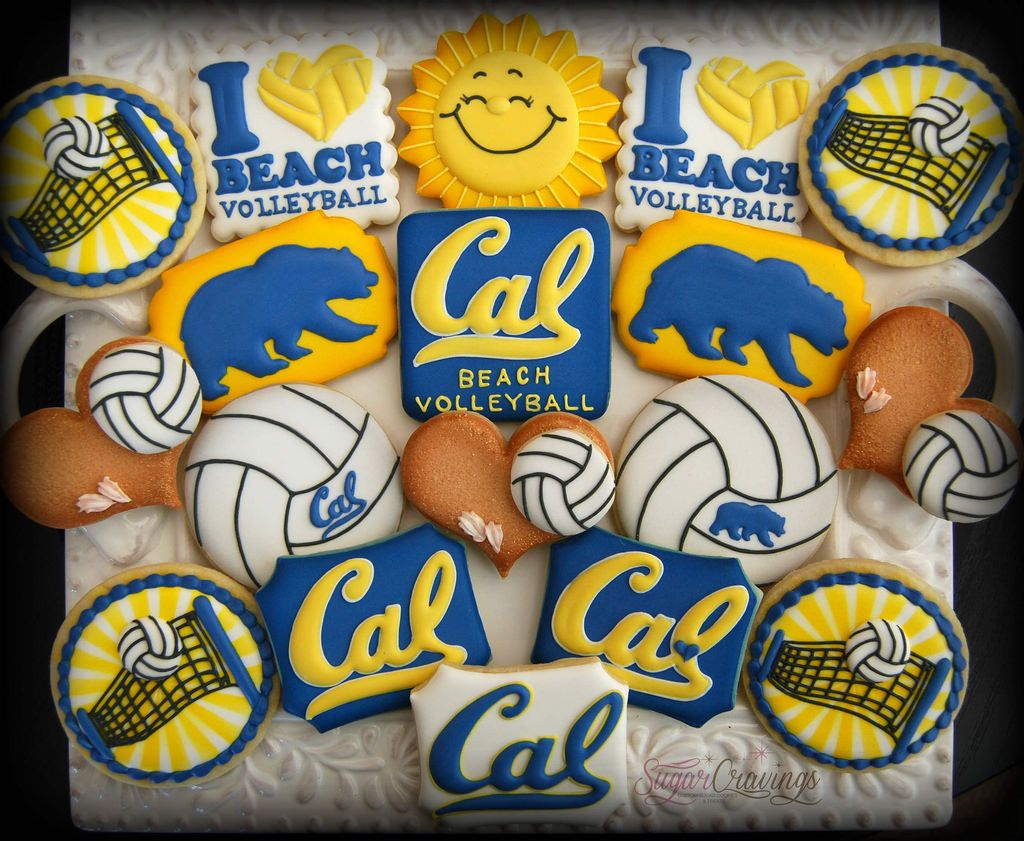 Cal Volleyball 9 1 Volleyball Cookies Sugar Cravings