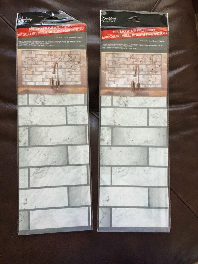 Foil Backsplash Wall Sticker 2 Sheets. eBay Wallpaper