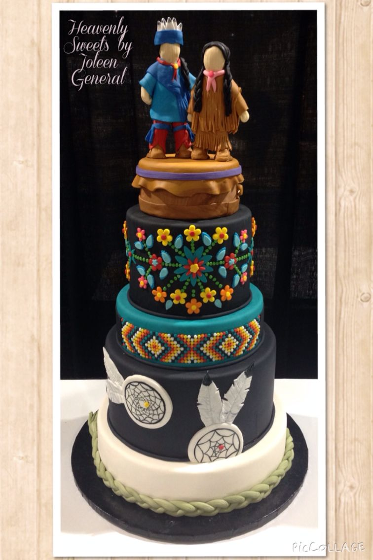 Native american wedding cake by heavenly sweets in caledonia on