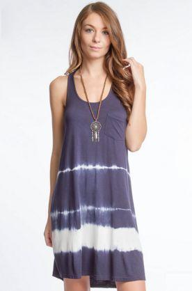 Tie Dye Sleeveless Dress with Pockets