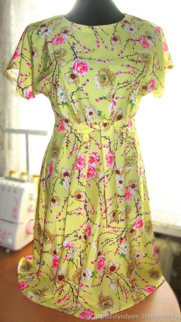 c6f5257f934 Платья ручной работы. Ярмарка Мастеров - ручная работа. Купить Лимонное  платье из французского шифона. Handmade. Лимонный