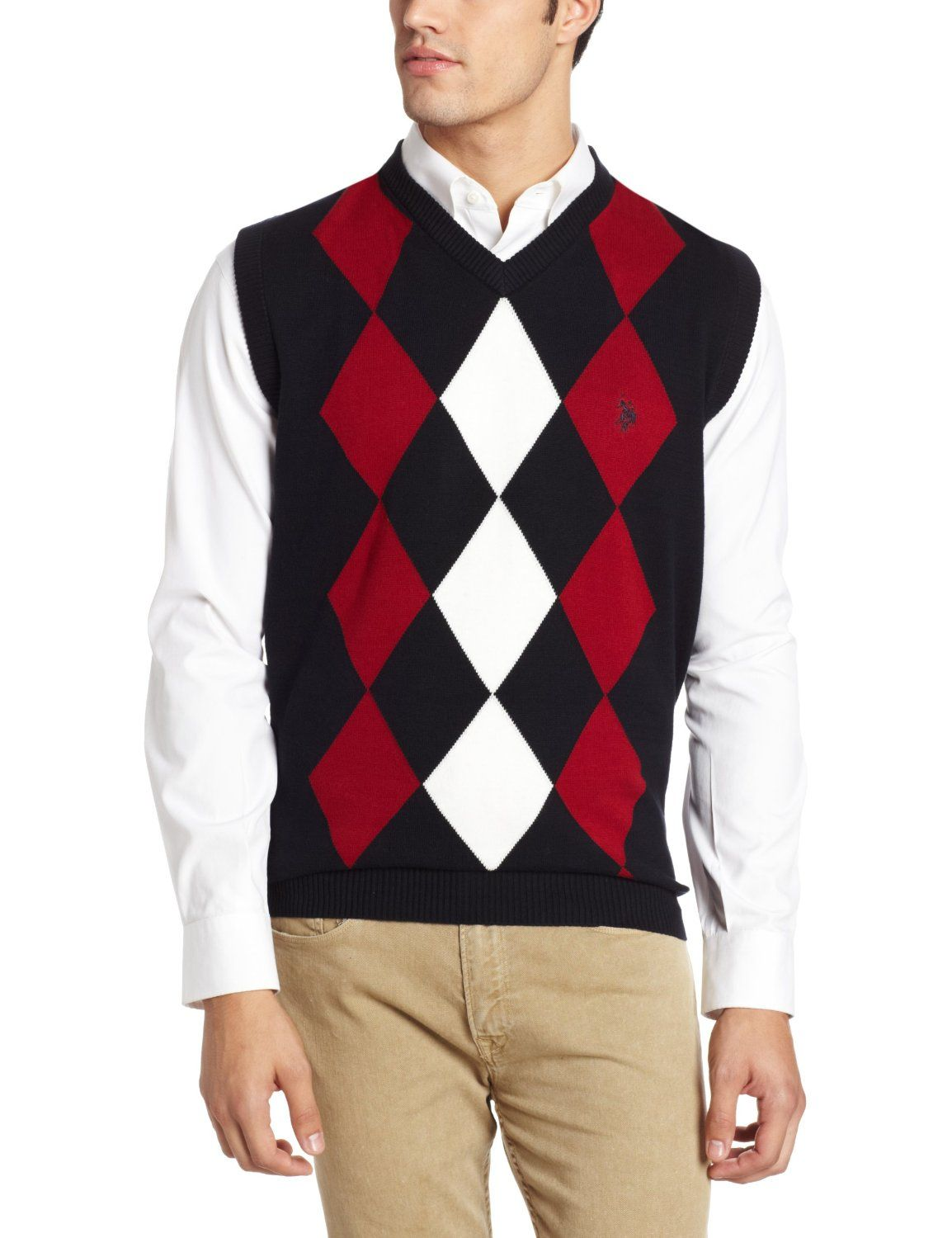 e4ceb739d6ee Argyle sweater vests ought to be worn over solid colored polo shirts ...