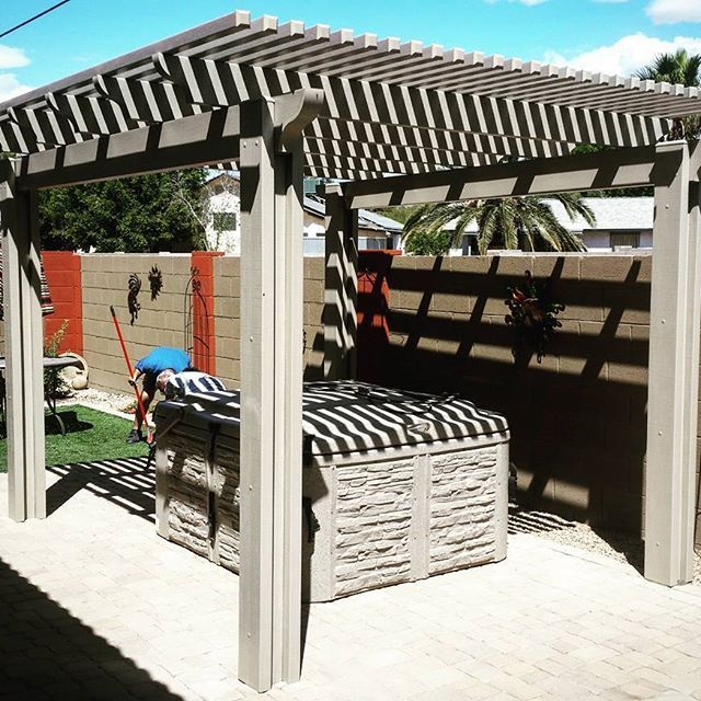 Another Day Another Lattice Pergola 2x2 60 Shade Install