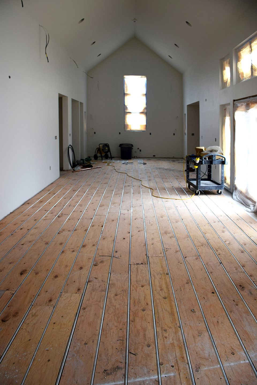Radiant floor heating using ThermoFin U extruded aluminum