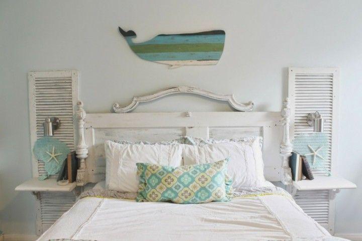 Fabriquer une tête de lit en bois avec une porte home ideas