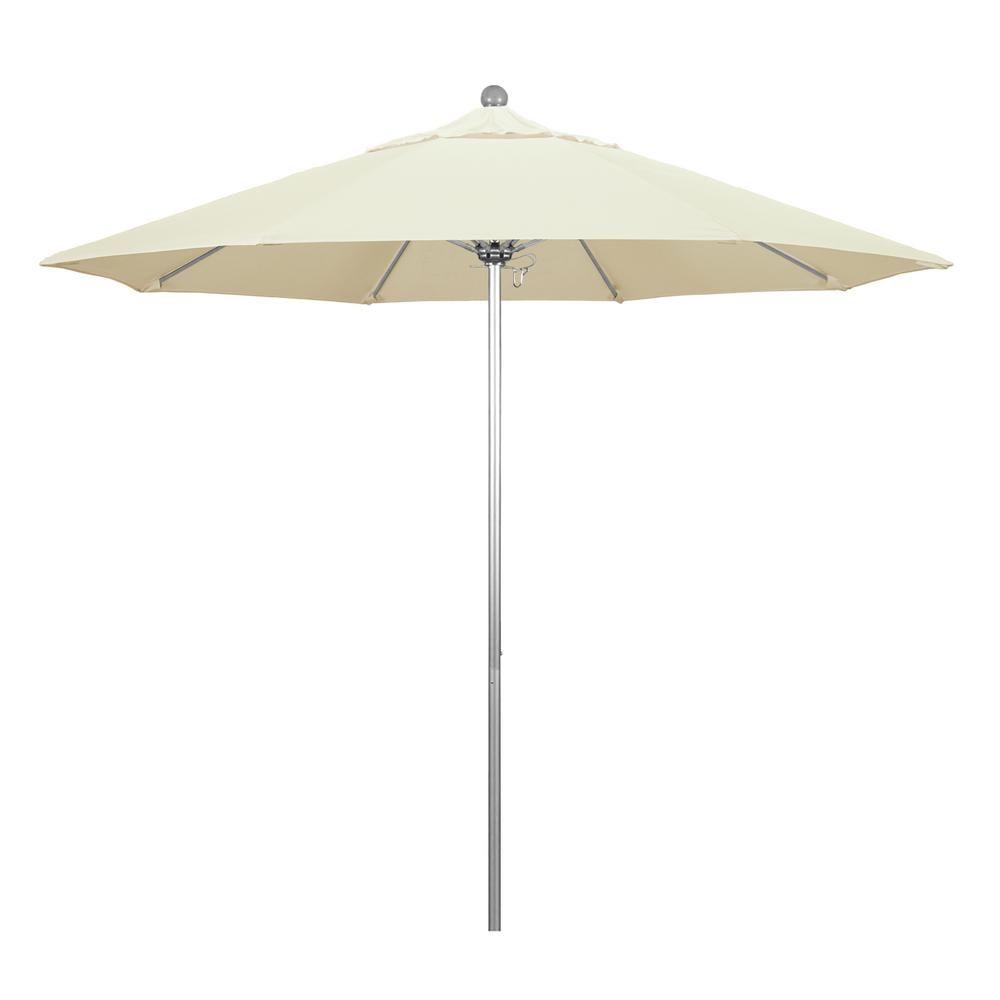California Umbrella 9 Ft Fiberglass Market Pulley Open S Anodized