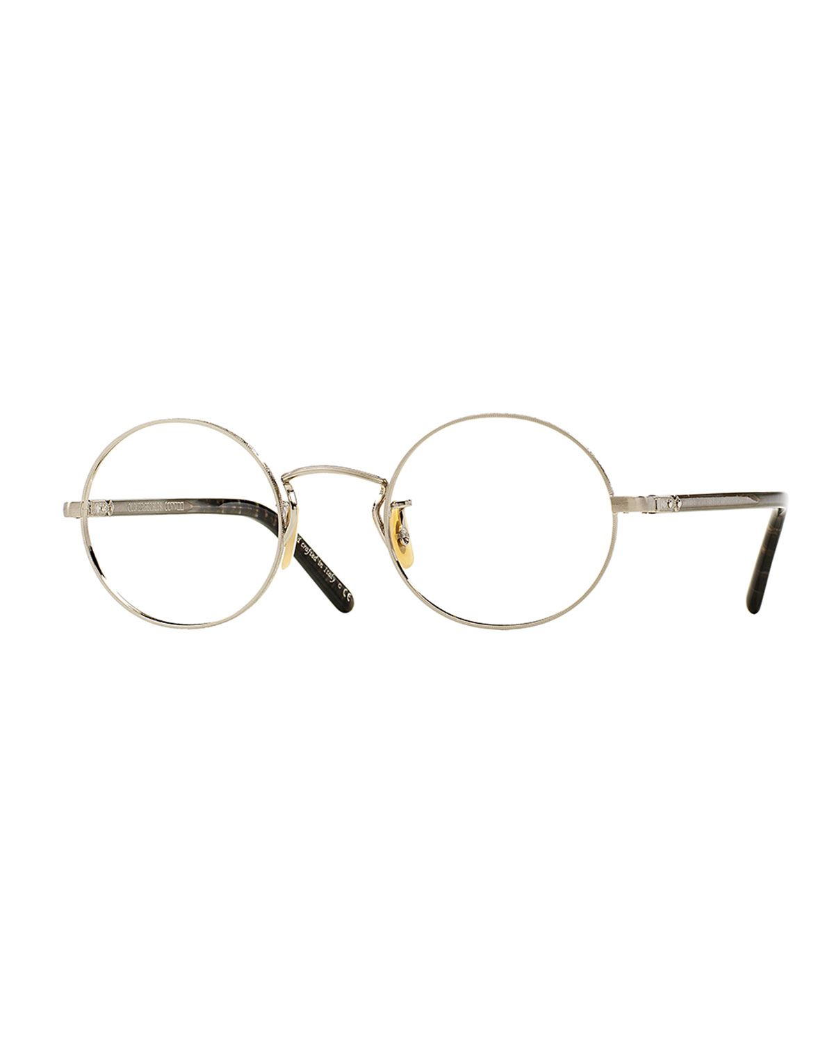 Overstreet 46 Round Fashion Glasses, Silver - Oliver Peoples