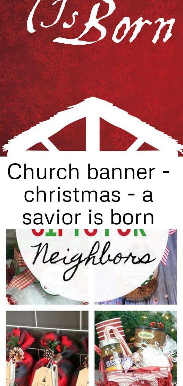 Church banner  christmas  a savior is born Church Banner  Christmas  A Savior Is Born 25 Fun Gifts for Neighbors and Friends this Christmas Easy DIY sequin push pin Chris...