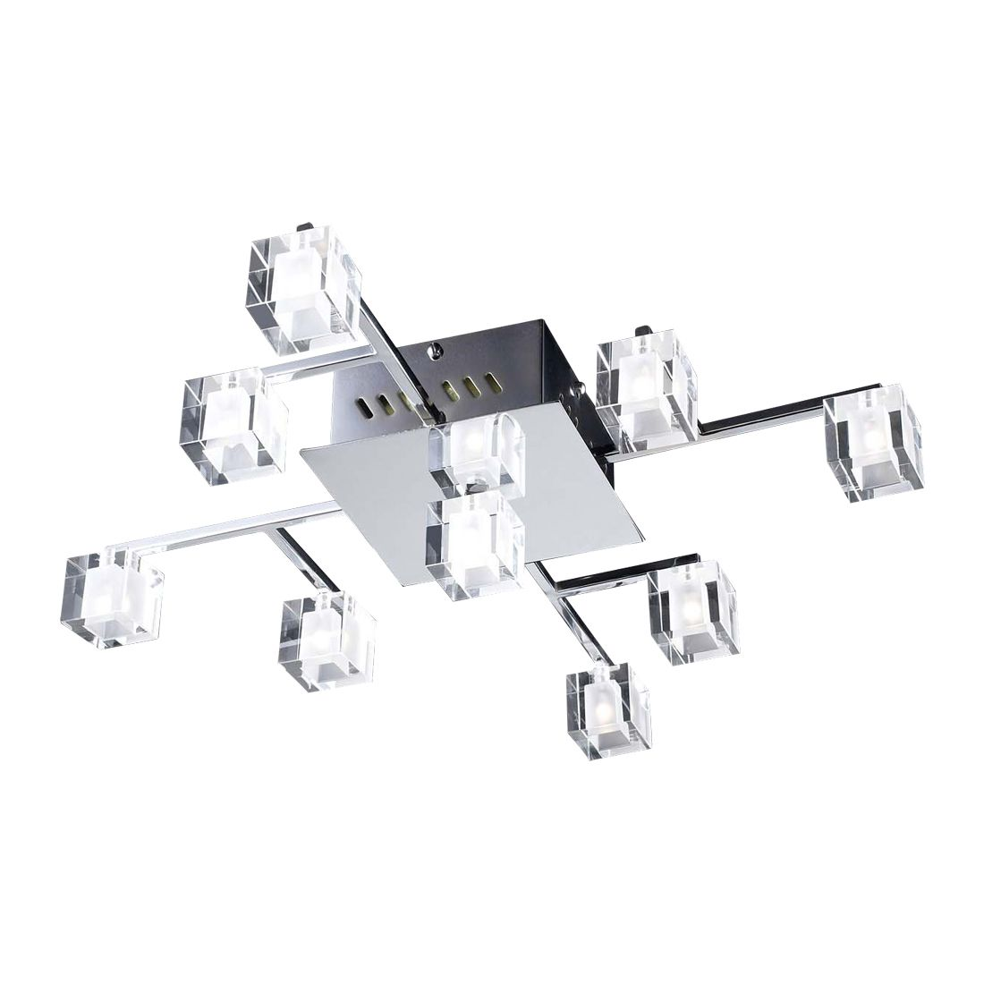 PLC Lighting 36652 PC 9 Light Doro Flush Mount Ceiling Light ...