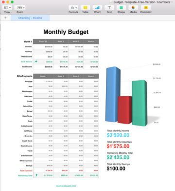Free Apple Numbers Budget Template Budget template