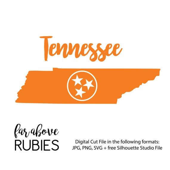 Svg Cut File For Silhouette Or Cricut Tennessee State