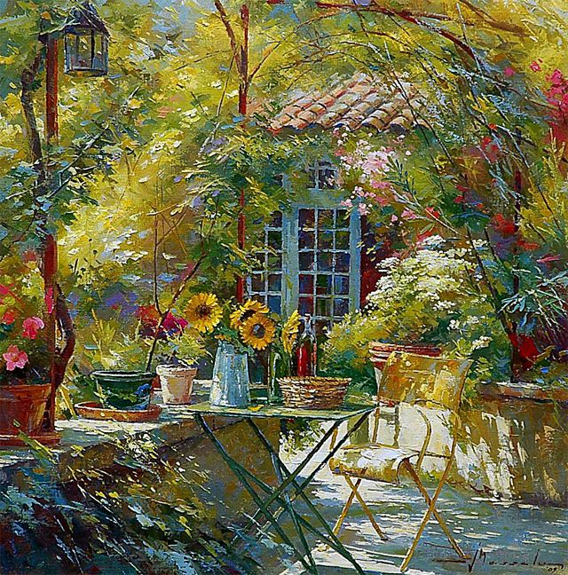johan messely art   Green sunny garden from Johan Messely.   The Eye ...