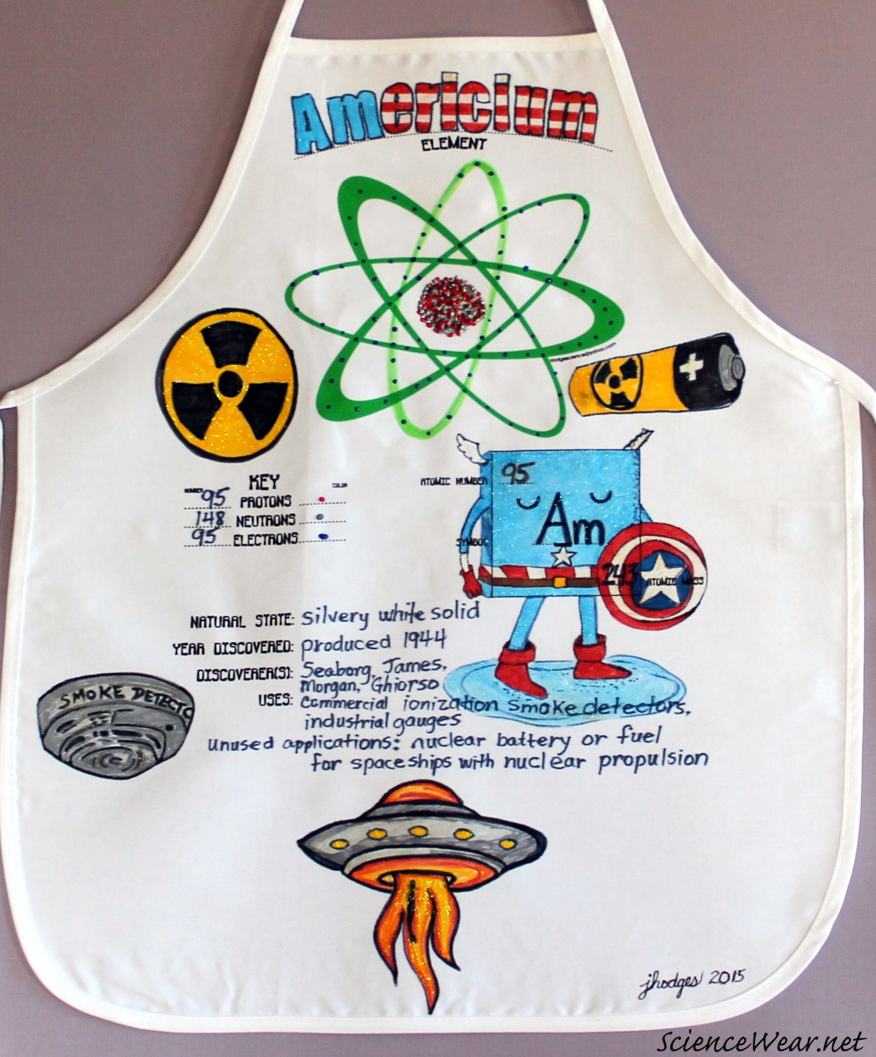 Element 95 is radioactive americium wearable science for Adopt an element project ideas