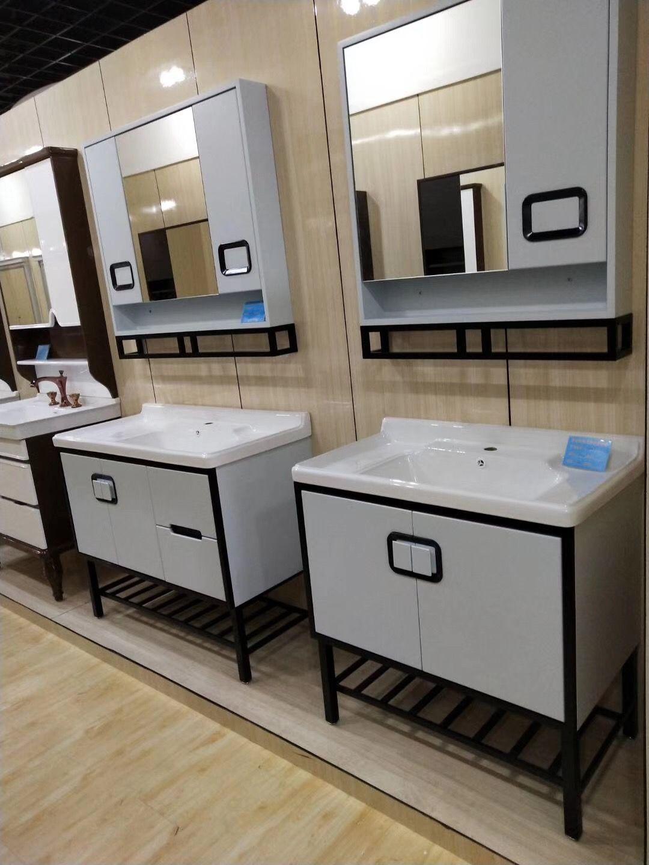 160usd new design bathroom vanity with metal legs and bottom shelf rh pinterest com 1968 Metal Vanities for Bathroom Vanity Base with Legs