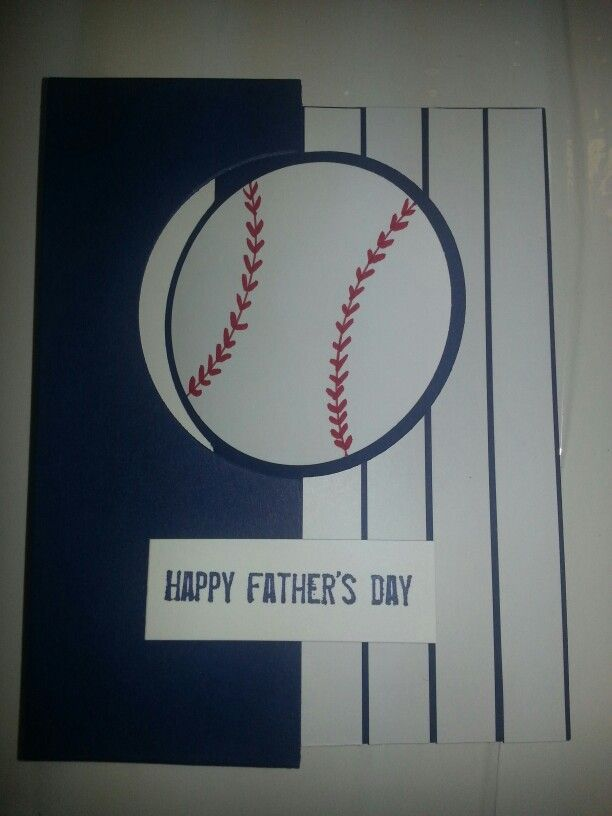 Baseball Fathers Day Card Card Ideas Masculine Cards Fathers