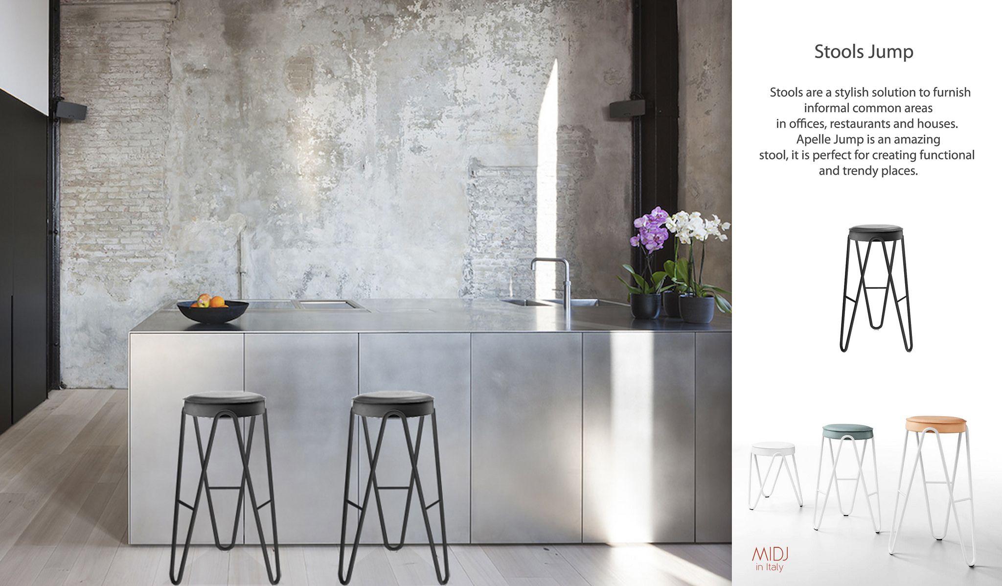 Mobili acciaio ~ 💜black jamp stool design beatriz sempere for midj struttura in