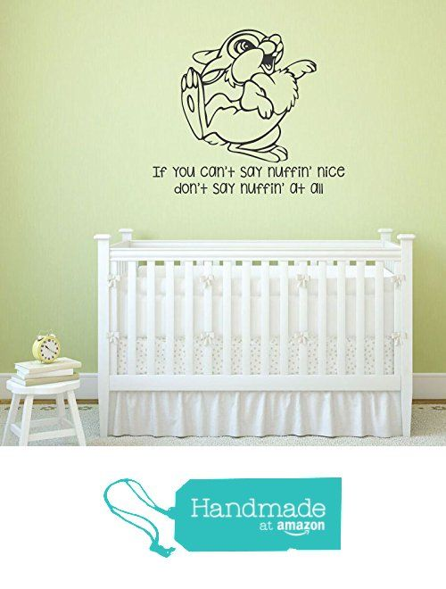 """pin by chrissy gockley on baby showers and may flowers vinyl decorplayroom wall decals thumper from bambi quote \""""if you can\u0027t say something nice"""