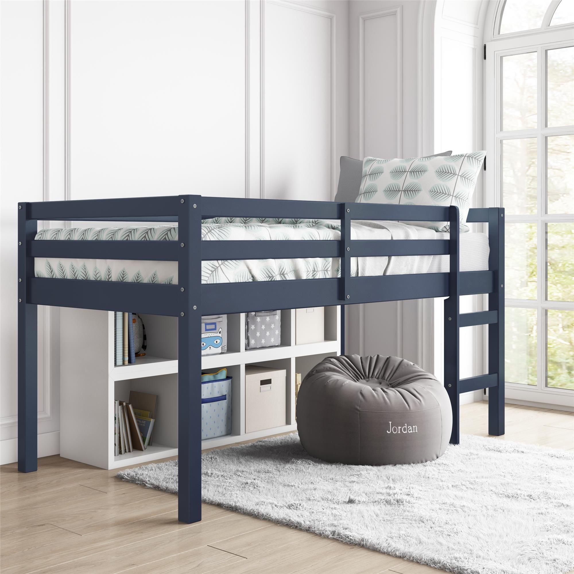 Dorel Living Benson Junior Twin Loft Bed Blue Walmart Com