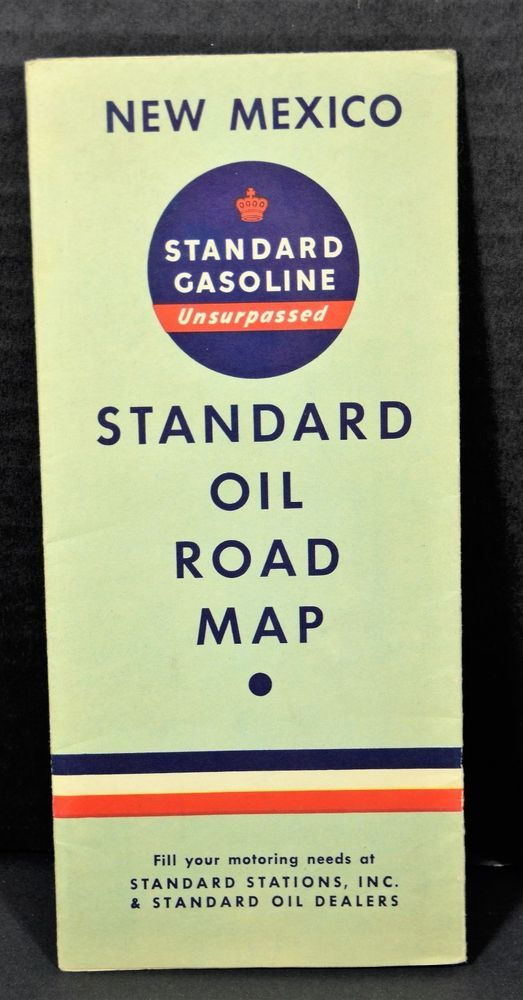 Vintage 1937 Road Map New Mexico USA
